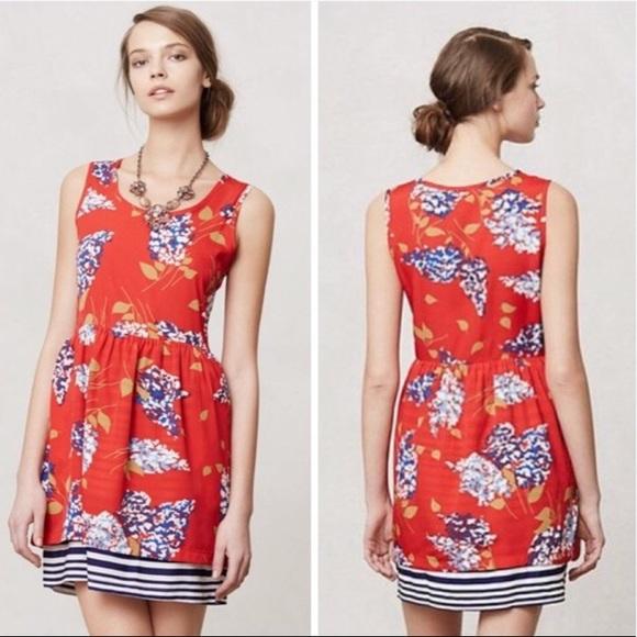 f6067a8e24c6 Anthropologie Dresses & Skirts - Anthropologie Porridge Red Floral Dress